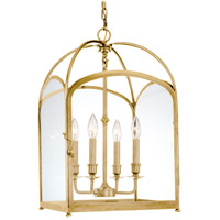Oxford 4 Light 14 inch Aged Brass Pendant Ceiling Light
