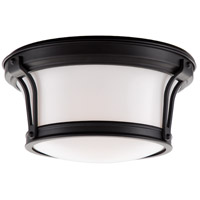 Newport Flush 2 Light 10 inch Old Bronze Flush Mount Ceiling Light
