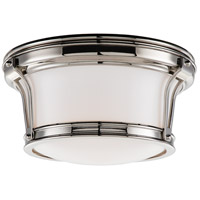 Newport Flush 2 Light 10 inch Polished Nickel Flush Mount Ceiling Light