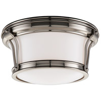 Newport Flush 2 Light 10 inch Satin Nickel Flush Mount Ceiling Light