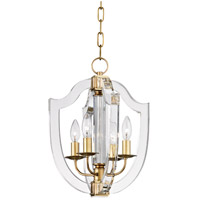 Hudson Valley Arietta 4 Light Pendant in Aged Brass 6512-AGB