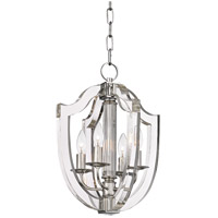 Arietta 4 Light 13 inch Polished Nickel Pendant Ceiling Light
