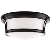 Newport Flush 2 Light 13 inch Old Bronze Flush Mount Ceiling Light