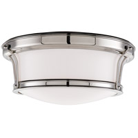 Newport Flush 2 Light 13 inch Polished Nickel Flush Mount Ceiling Light