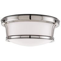 Hudson Valley 6513-PN Newport Flush 2 Light 13 inch Polished Nickel Flush Mount Ceiling Light