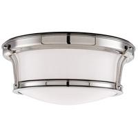 Hudson Valley 6513-PN Newport Flush 2 Light 13 inch Polished Nickel Flush Mount Ceiling Light