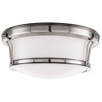 Newport Flush 2 Light 13 inch Satin Nickel Flush Mount Ceiling Light