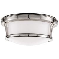 Hudson Valley 6513-SN Newport Flush 2 Light 13 inch Satin Nickel Flush Mount Ceiling Light
