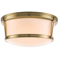 Hudson Valley 6515-AGB Newport Flush 3 Light 15 inch Aged Brass Flush Mount Ceiling Light alternative photo thumbnail