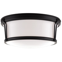 Newport Flush 3 Light 15 inch Old Bronze Flush Mount Ceiling Light