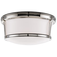 Newport Flush 3 Light 15 inch Polished Nickel Flush Mount Ceiling Light
