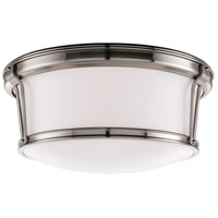 Newport Flush 3 Light 15 inch Satin Nickel Flush Mount Ceiling Light