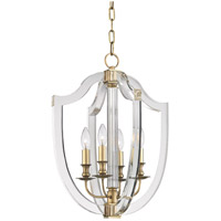Hudson Valley Arietta 4 Light Pendant in Aged Brass 6516-AGB
