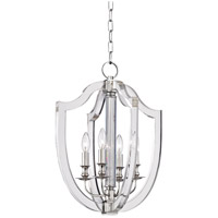 Arietta 4 Light 17 inch Polished Nickel Pendant Ceiling Light