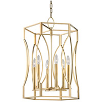 Hudson Valley Lighting Roswell 6 Light Pendant in Aged Brass 6517-AGB