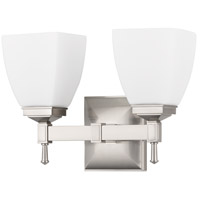 Hudson Valley 652-SN Kent 2 Light 12 inch Satin Nickel Bath And Vanity Wall Light