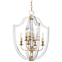 Hudson Valley Arietta 8 Light Pendant in Aged Brass 6520-AGB