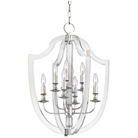 Arietta 8 Light 21 inch Polished Nickel Pendant Ceiling Light
