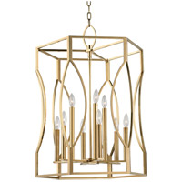 Roswell 9 Light 23 inch Aged Brass Pendant Ceiling Light