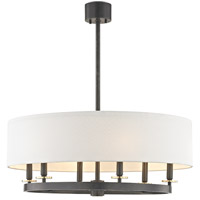Durham 6 Light 31 inch Aged Old Bronze Pendant Ceiling Light