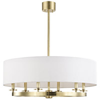 Durham 6 Light 31 inch Aged Brass Pendant Ceiling Light