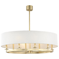 Durham 8 Light 39 inch Aged Brass Pendant Ceiling Light