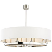 Durham 8 Light 39 inch Polished Nickel Pendant Ceiling Light