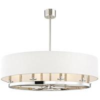 Hudson Valley 6539-PN Durham 8 Light 39 inch Polished Nickel Pendant Ceiling Light