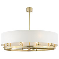 Durham 10 Light 42 inch Aged Brass Pendant Ceiling Light