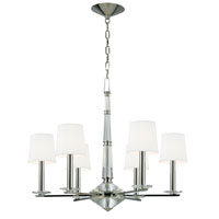 Porter 6 Light 30 inch Polished Nickel Chandelier Ceiling Light