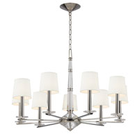 Hudson Valley Lighting Porter 9 Light Chandelier in Polished Nickel 6619-PN