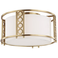 Hudson Valley 6710-AGB Infinity 3 Light 16 inch Aged Brass Flush Mount Ceiling Light