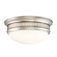 Hudson Valley Lighting Lockport 2 Light Flush Mount in Polished Nickel 6713-PN