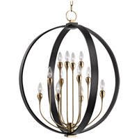 Hudson Valley 6730-AOB Dresden 12 Light 30 inch Aged Old Bronze Chandelier Ceiling Light