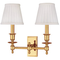 Ludlow 2 Light 14 inch Polished Brass Wall Sconce Wall Light