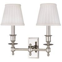 Ludlow 2 Light 14 inch Polished Nickel Wall Sconce Wall Light