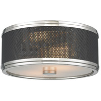 Fraser 2 Light 11 inch Polished Nickel Semi-Flush Ceiling Light