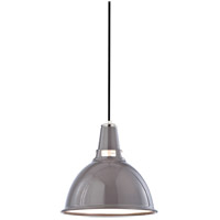 Lydney 1 Light 12 inch Gray and Polished Nickel Pendant Ceiling Light in Gray/Polished Nickel