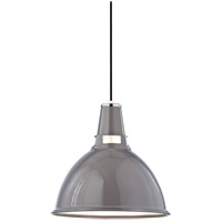 Hudson Valley Lighting Lydney Pendant in Gray/Polished Nickel 6816-GPN
