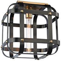 Colchester 1 Light 12 inch Aged Old Bronze Semi-Flush Ceiling Light