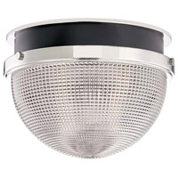 Hudson Valley 6914-PN/BK Lucien 1 Light 14 inch Polished Nickel / Black Flush Mount Ceiling Light