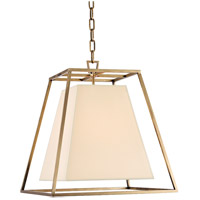 Kyle 4 Light 17 inch Aged Brass Pendant Ceiling Light in Eco Paper