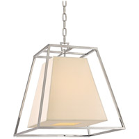 Hudson Valley Lighting Kyle 4 Light Pendant in Polished Nickel with Eco Paper Shade 6917-PN