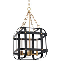 Hudson Valley Colchester 4 Light Pendant in Aged Old Bronze 6920-AOB