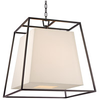 Hudson Valley Lighting Kyle 6 Light Chandelier in Old Bronze with White Faux Silk Shade 6924-OB-WS
