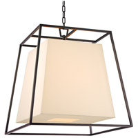 Kyle 6 Light 24 inch Old Bronze Chandelier Ceiling Light in Eco Paper