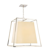 Hudson Valley Lighting Kyle 6 Light Chandelier in Polished Nickel with Eco Paper Shade 6924-PN photo thumbnail