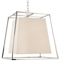 Hudson Valley 6924-PN-WS Kyle 6 Light 24 inch Polished Nickel Chandelier Ceiling Light in White Faux Silk