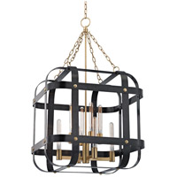 Hudson Valley 6925-AOB Colchester 8 Light 28 inch Aged Old Bronze Pendant Ceiling Light