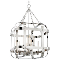 Hudson Valley 6925-PN Colchester 8 Light 28 inch Polished Nickel Pendant Ceiling Light